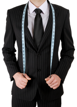 Mens Suit with Tape Measure