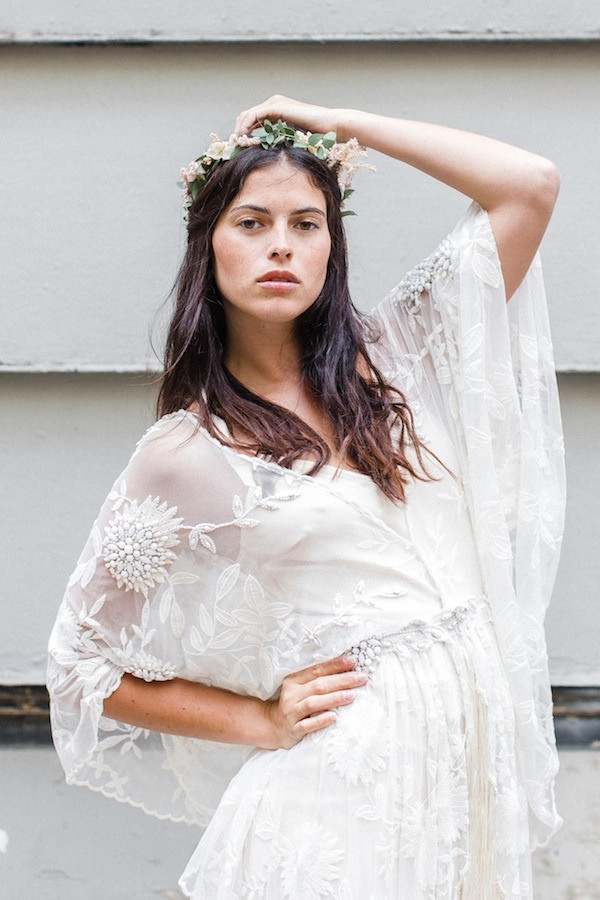 1970s Boho Wedding Dress