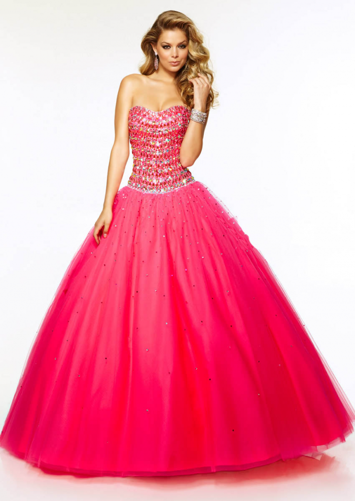 2015 beautiful strapless sweetheart prom evening ball with rhinestone gown by paparazzi 9709414158569433